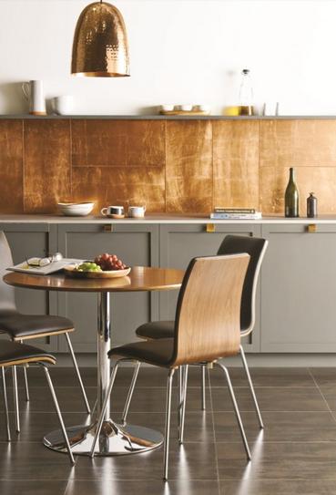 Beautiful Copper Kitchen Backsplash