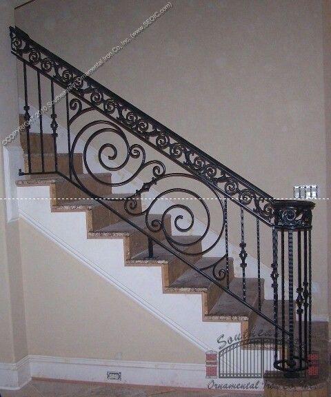 Staalwerk | Wrought iron stair railing, Iron stair railing ...