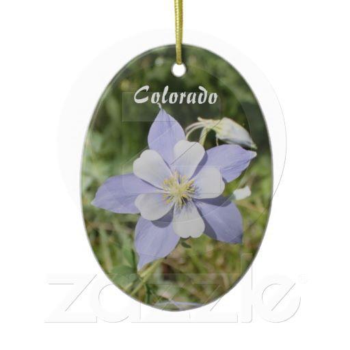 Colorado Blue Columbine Ornament