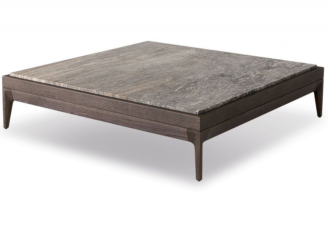 Contemporary coffee table wooden glass marble ANTIBES