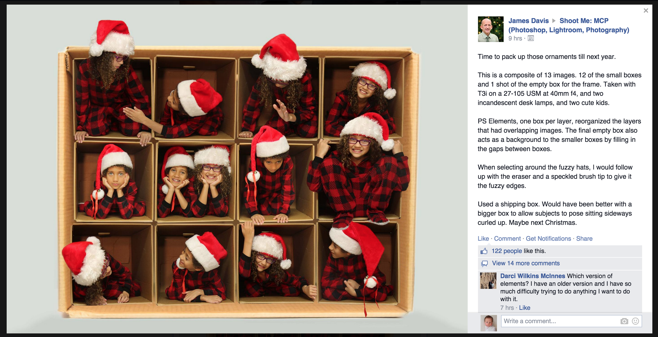 Cute Christmas Card posite idea