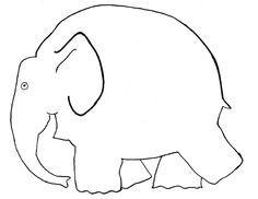 KLASSENKUNST: Vorlage Elefant | basteln Schule | Art ...