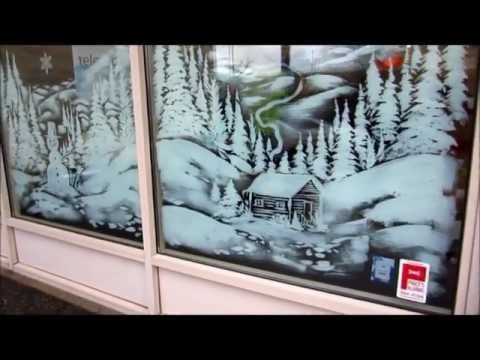 Christmas Window Painting Snow Scene This Is The Beginning