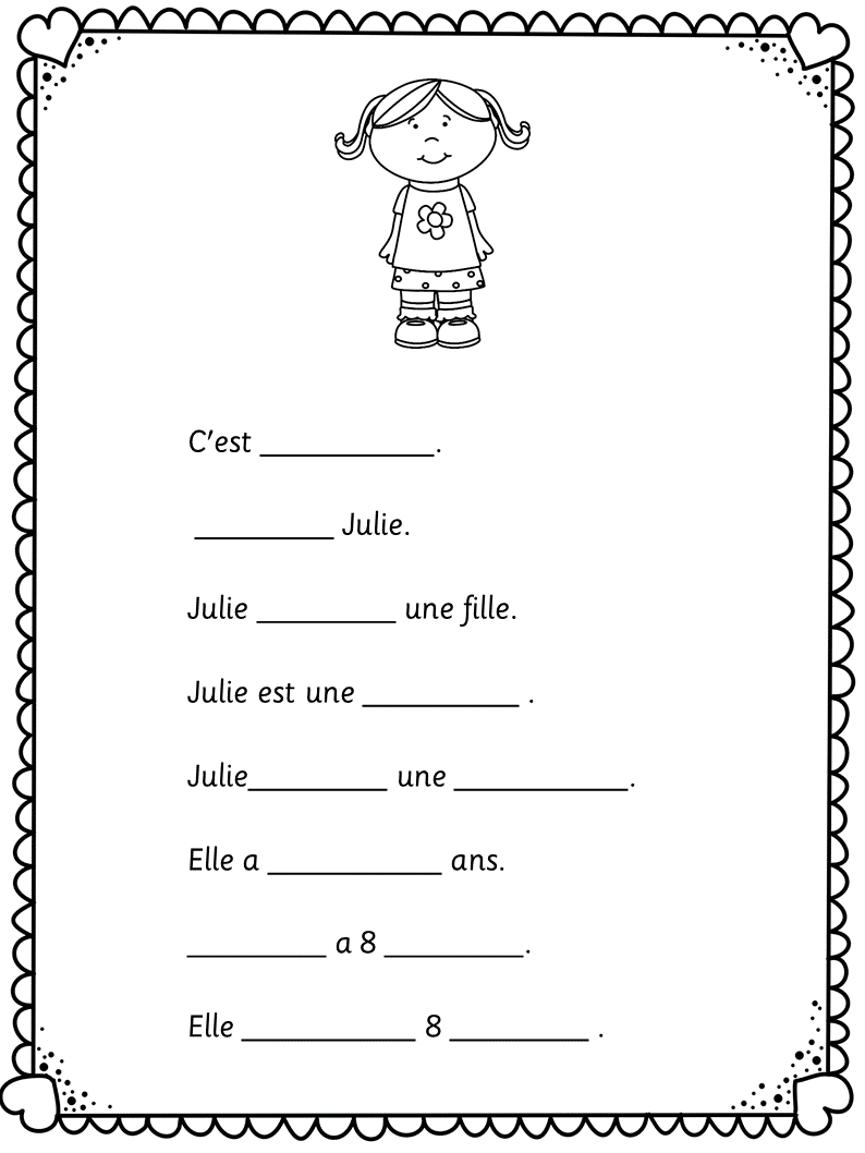 French C 39 Est La Rentree Easy Worksheets For Learners Of