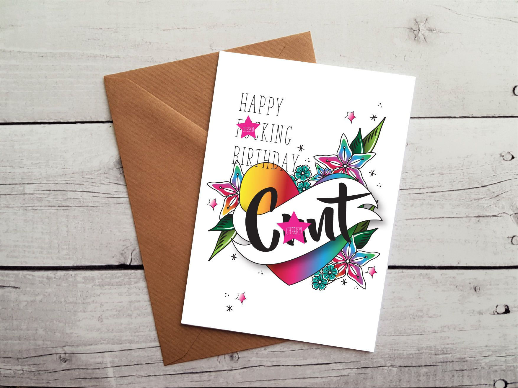 Funny Birthday Card For Friend Swearing Hilarious Cards Naughty MATURE WORLDWIDE SHIPPING