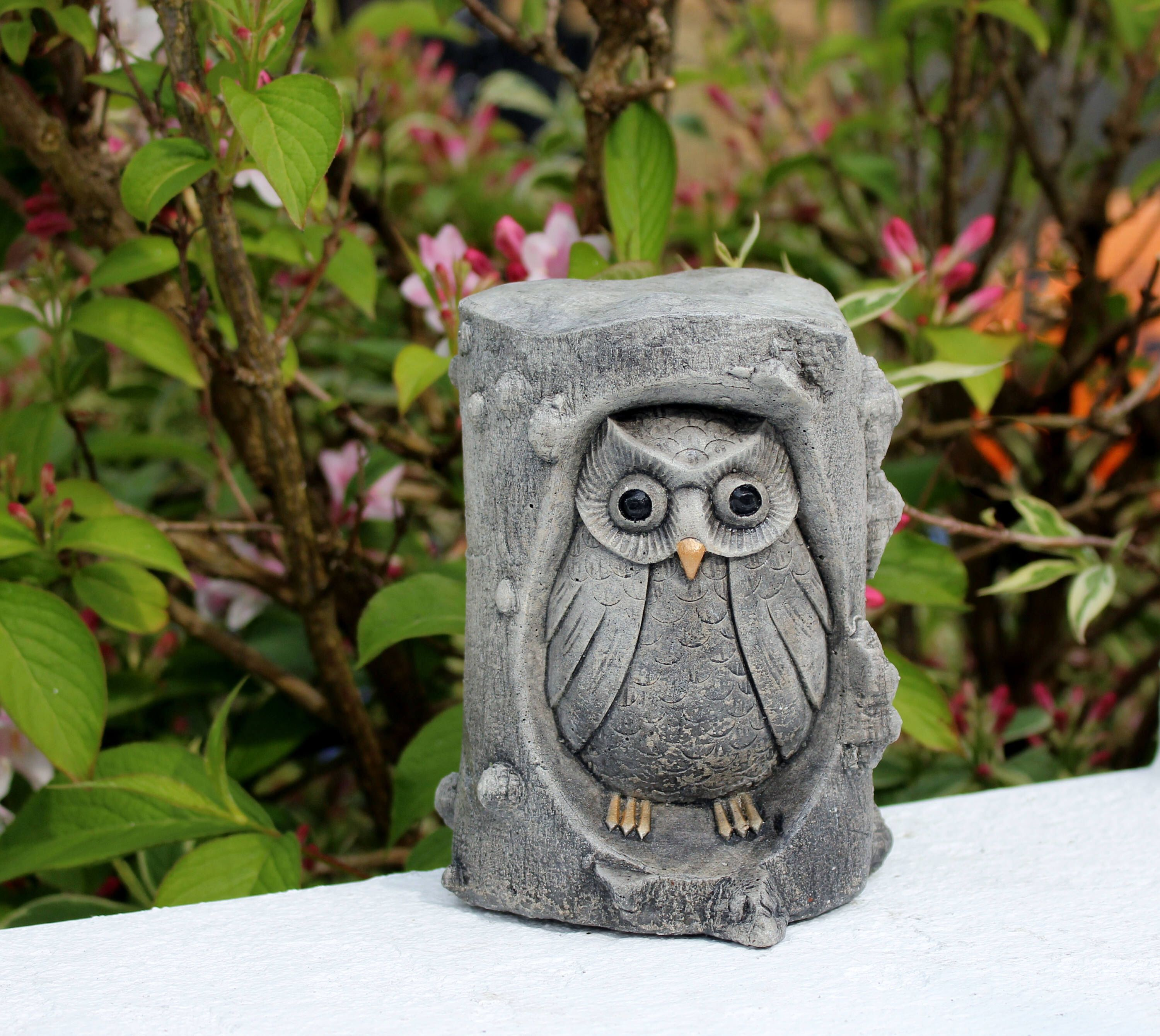 Owl lawn ornaments - Owl In A Tree Owl Lawn Decor Stone Garden Ornament Made In Cornwall Cornwall Stoneware Garden Gift Outdoor Gardening Home