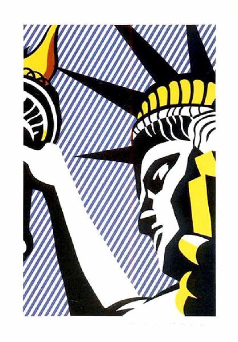 Art Poster Roy Lichtenstein Popart As I Opened Fire 2  Art Print