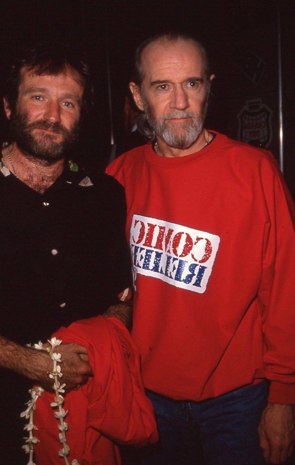 George Carlin & Robin Williams, 1990 | Robin williams ...