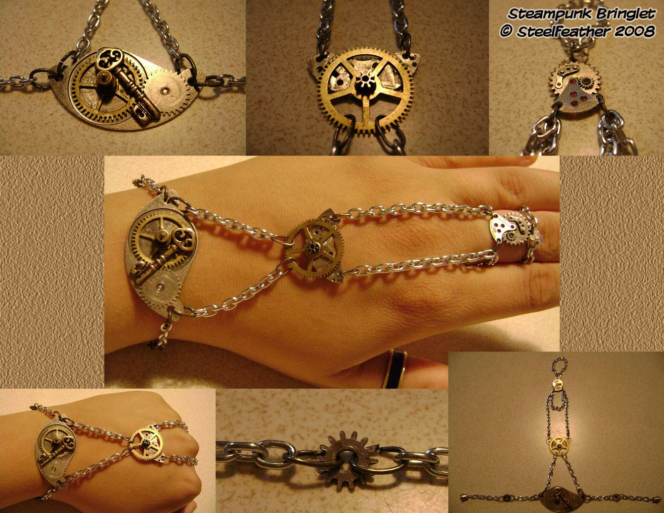 Steampunk Bringlet by Goagleon.deviantart.com on @DeviantArt