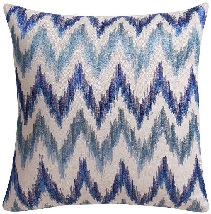 LOOM MILL Blue Ikat Decorative Pillow 40 X 40 Accent Pillows Mesmerizing Loom And Mill Decorative Pillows
