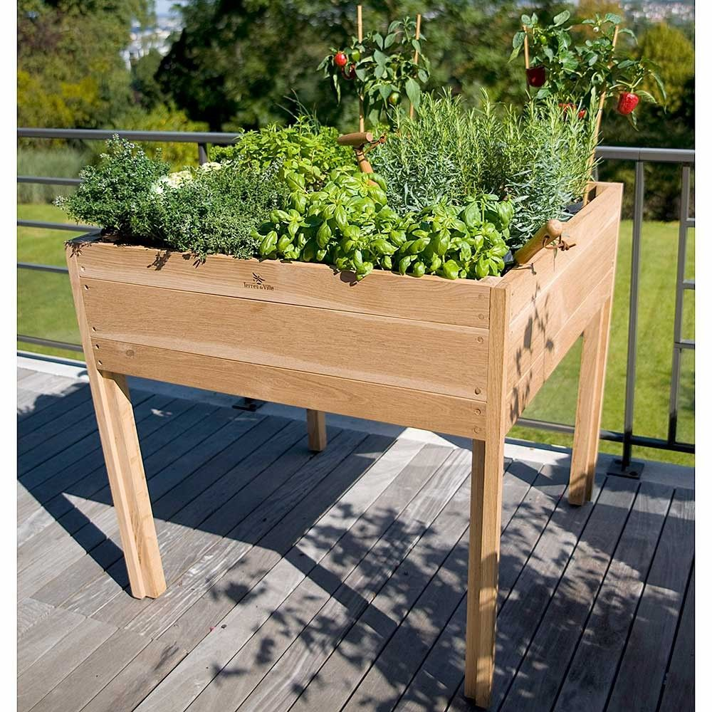 Terres De Ville Solid White Oak Planting Table