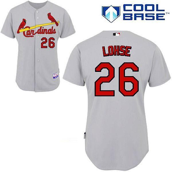 St.Louis Cardinals #26 Kyle Lohse Grey Cool Base Stitched MLB Jersey