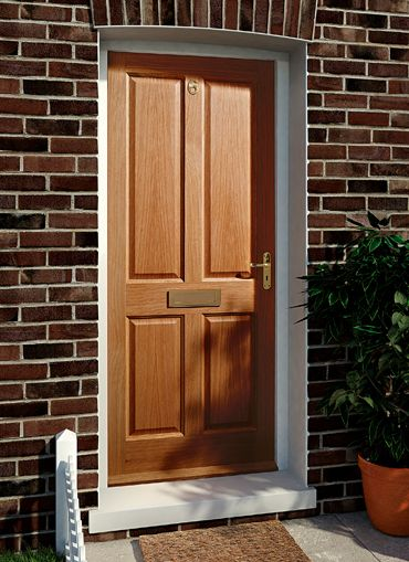 Victorian Oak Panel External Door External Doors