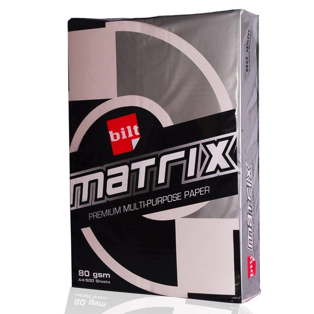 Price Rs.1,350/- BILT #Black Matrix Multi-Purpose Paper Blush Pink A4 80GSM Box of 5 Reams Online in India