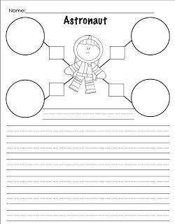 Astronaut writing activity