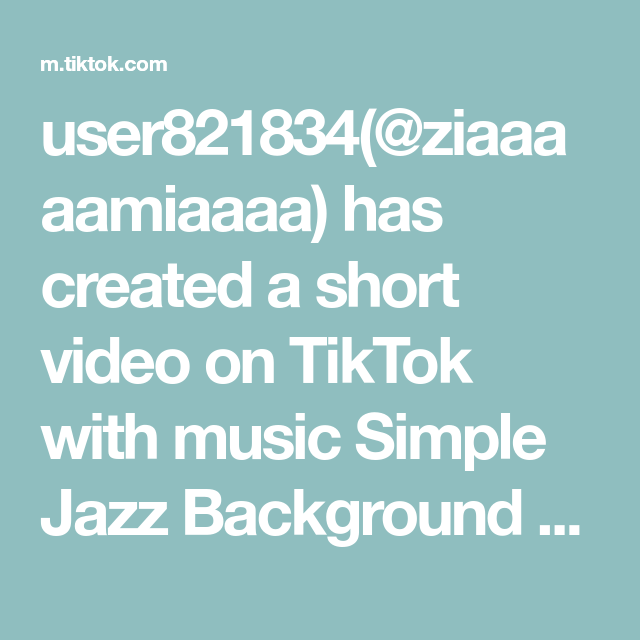 User821834 Ziaaaaamiaaaa Has Created A Short Video On Tiktok With Music Simple Jazz Background Music I Honestly Like The Diy Food Recipes Cooking Tips Music