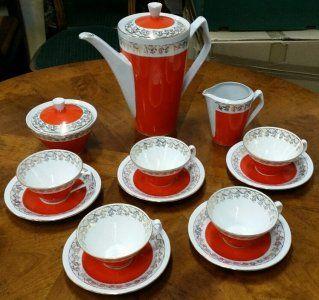 Porcelana Serwis Kawowy Chodziez Z Lat 60 Rzadkosc 6039356119 Oficjalne Archiwum Allegro Tea Set Tableware Glassware
