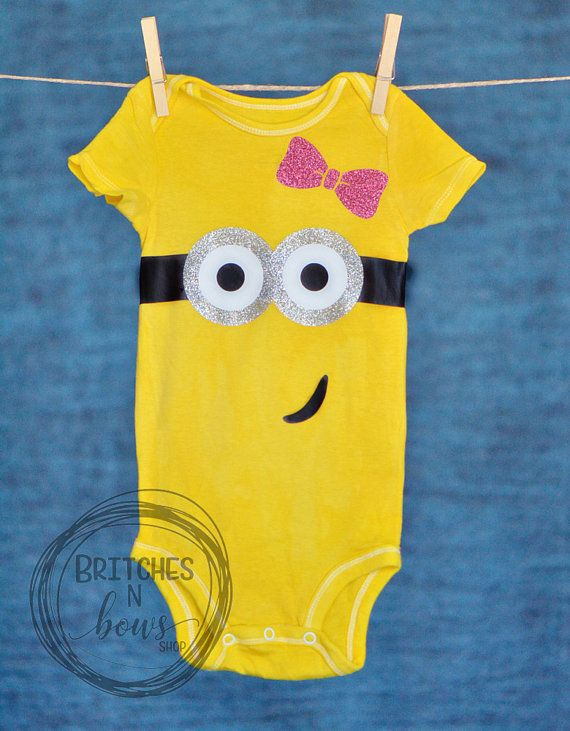 52db9a618801 Girly Minion Inspired for Baby or Toddler