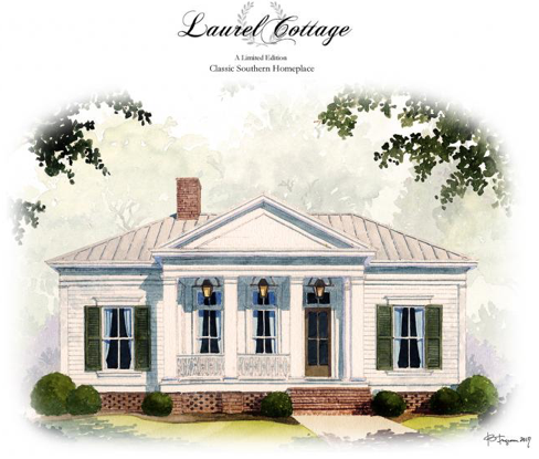 The Laurel Cottage Plan By C Brandon Ingram Artfoodhome Com Small Cottage House Plans Cottage Plan Small Cottage Homes