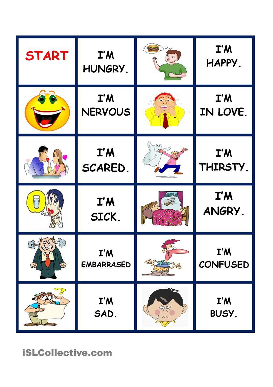 feeling domino esl vocabulary feelings character traits kids english english lessons. Black Bedroom Furniture Sets. Home Design Ideas