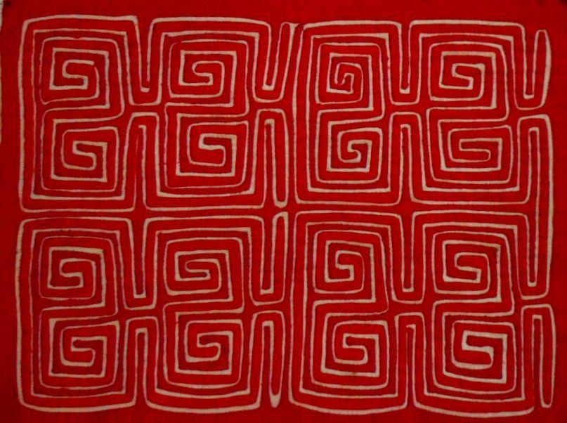 Kuna Indian Hand Stitch Classic Design Mola-Panama 16072825L