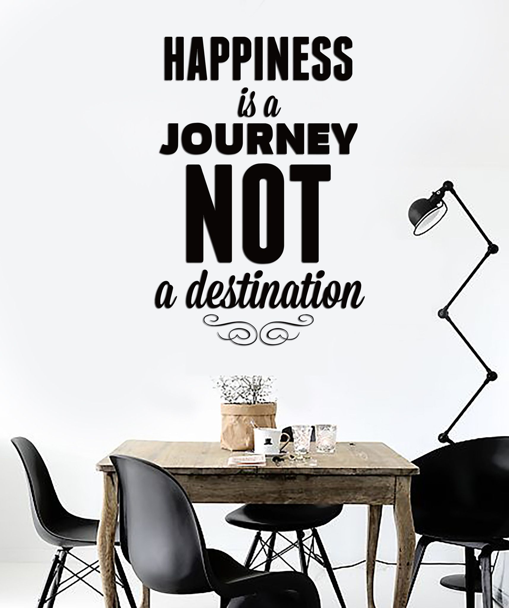 Wall Sticker Quotes Words Happiness Is A Journey Not A