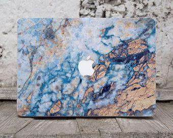 Gold Blue Marble Laptop Case Macbook Air Skin Computer Skin Macbook Decal Macbook Pro 13 Vinyl Laptop Sticker Laptop Cover Mac Air Decal 141