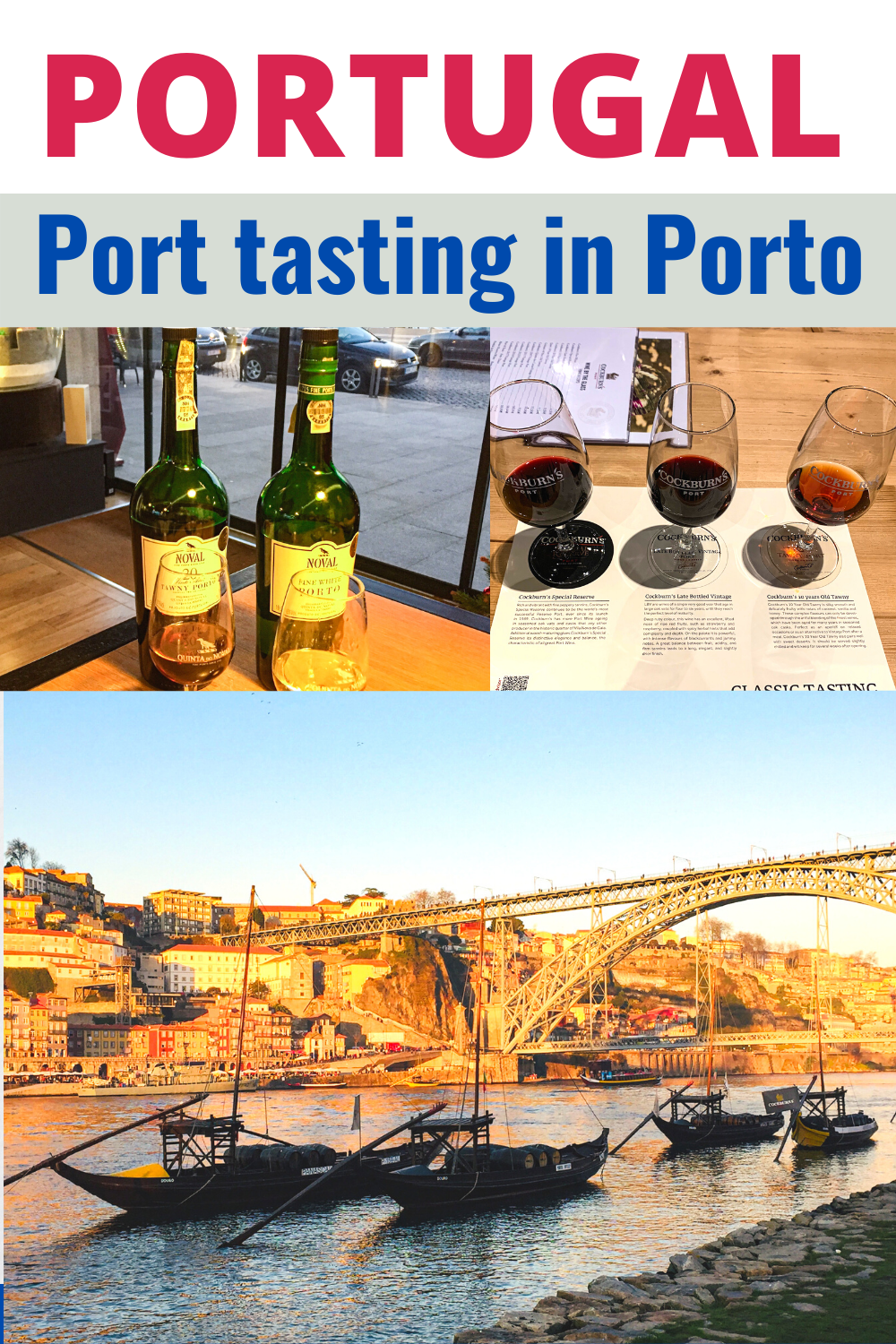 Europe travel: port tasting in Porto Portugal. Where to try port in porto and top tips for port tasting in Porto. If you're in Porto, you must try some port, the trade synonymous with the city. There are many ways you can do some port tasting/ port wine tasting in Porto. Read my post for top tips on how to do some Porto port tasting on a visit to Porto. Portugal travel. #porto #port #porttasting #citybreak #portugal #travel #portugaltravel #portwine #winetasting
