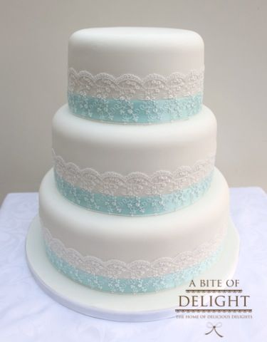 Image result for white lace wedding cake