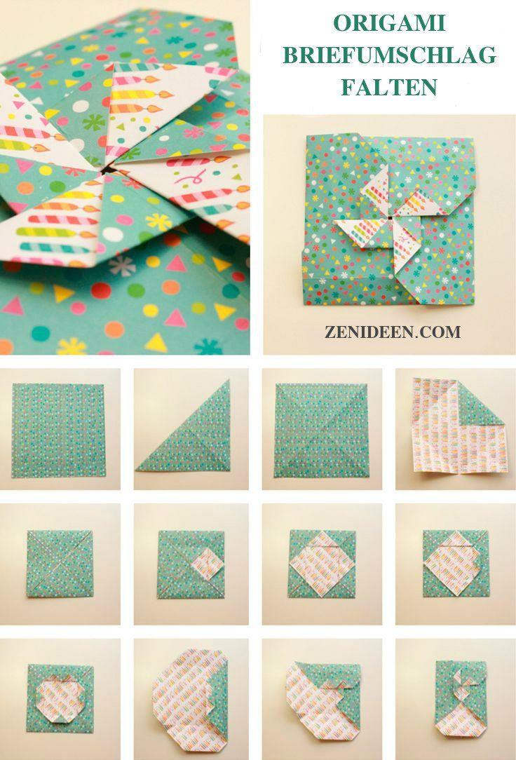 Briefumschlag falten in 20 Sekunden 20 kreative DIY Anleitungen ...