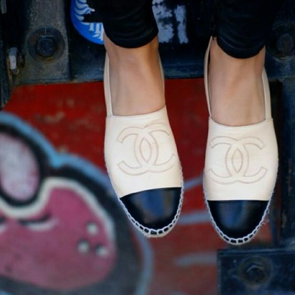 Authentic Chanel Leather Espadrille