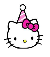 free hello kitty clip art pictures and images hello kitty rh pinterest com Hello Kitty Birthday Graphics Hello Kitty Happy Birthday Clip Art