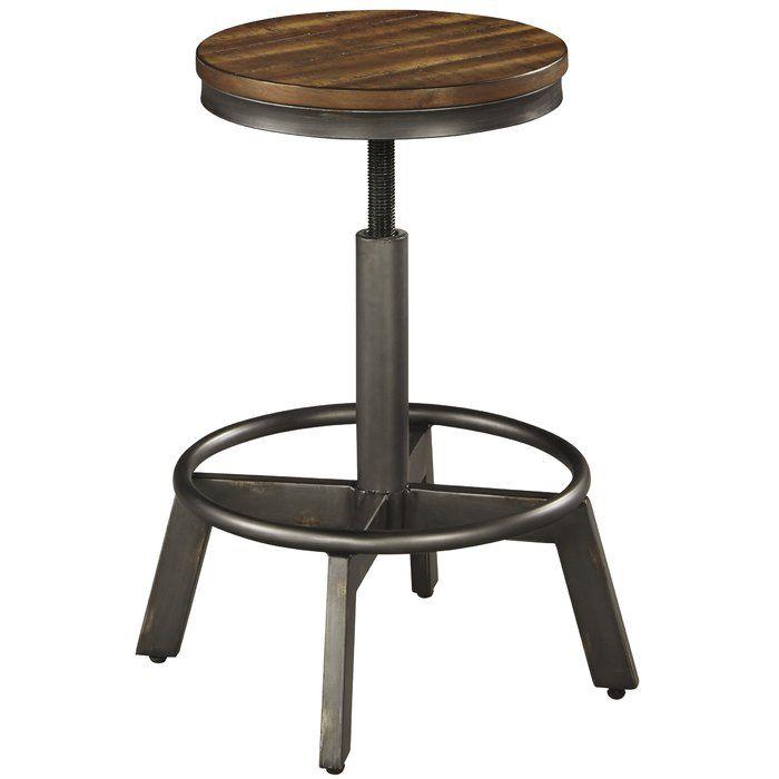 Cool Port Morris Adjustable Height Bar Stool In 2019 New Living Machost Co Dining Chair Design Ideas Machostcouk