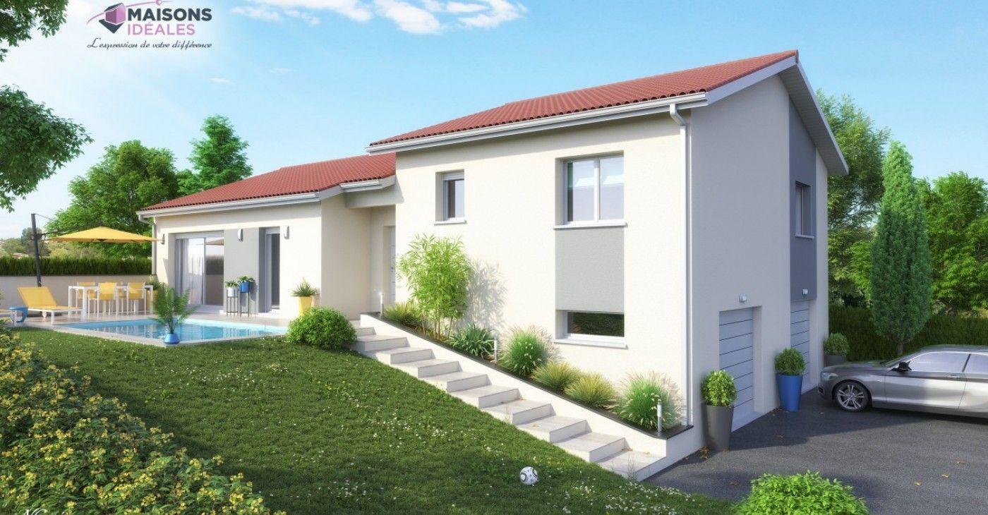 Maison Demi Sous Sol 120 M2 Maisons Ideales Plan Maison 120m2 Maison Maison Moderne Toit Plat