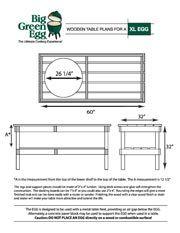 Diy Table Plans Xl Green Egg