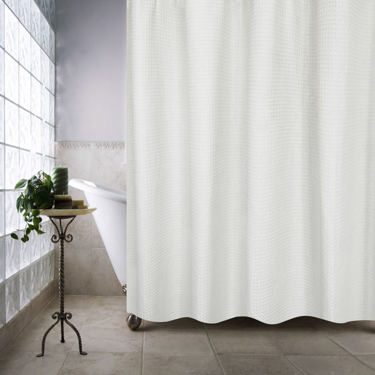 100 Organic Cotton Ultra Spa Shower Curtain