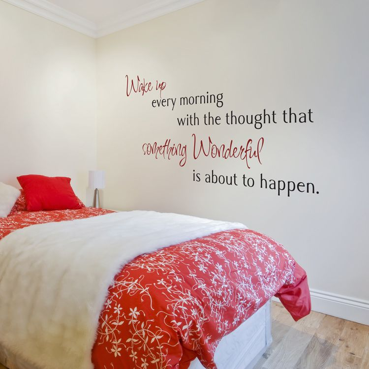 Wake up every morning with the thought that... - Quote Wall Decals Stickers