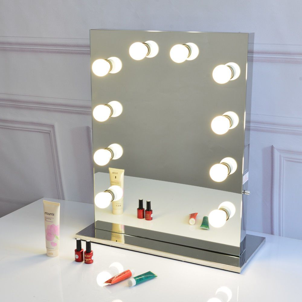 12 Decorate Full Size Led Globe Style Bulbs Included Free Hollywood Makeup Mirror Led L Makeup Vanity Mirror With Lights Mirror With Lights Diy Vanity Mirror