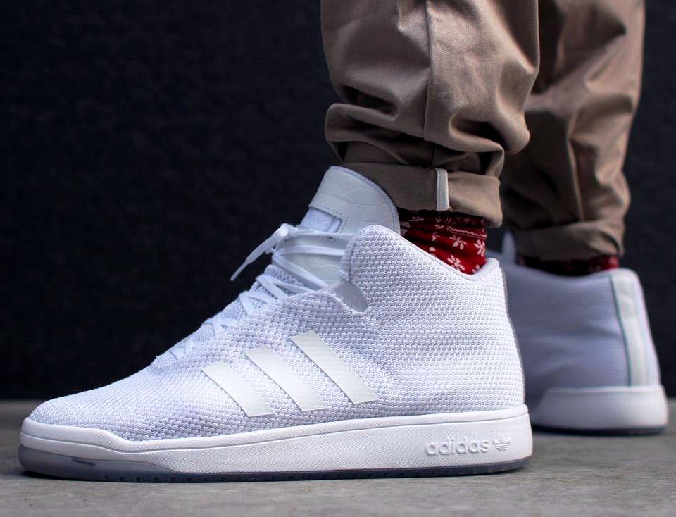 Adidas Veritas Mid. Triple Whites. | Sneaker boots, Adidas