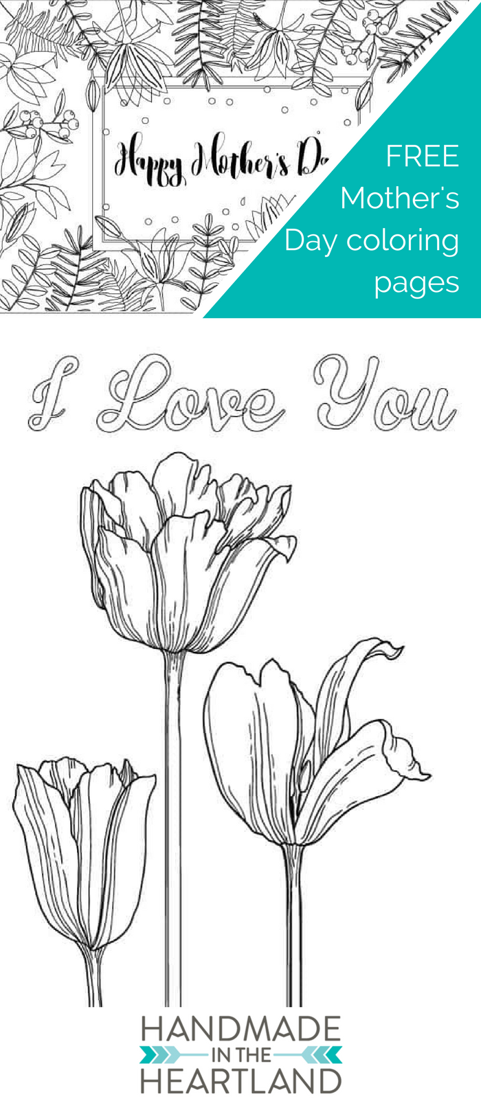 motherus day coloring pages handmade in the heartland