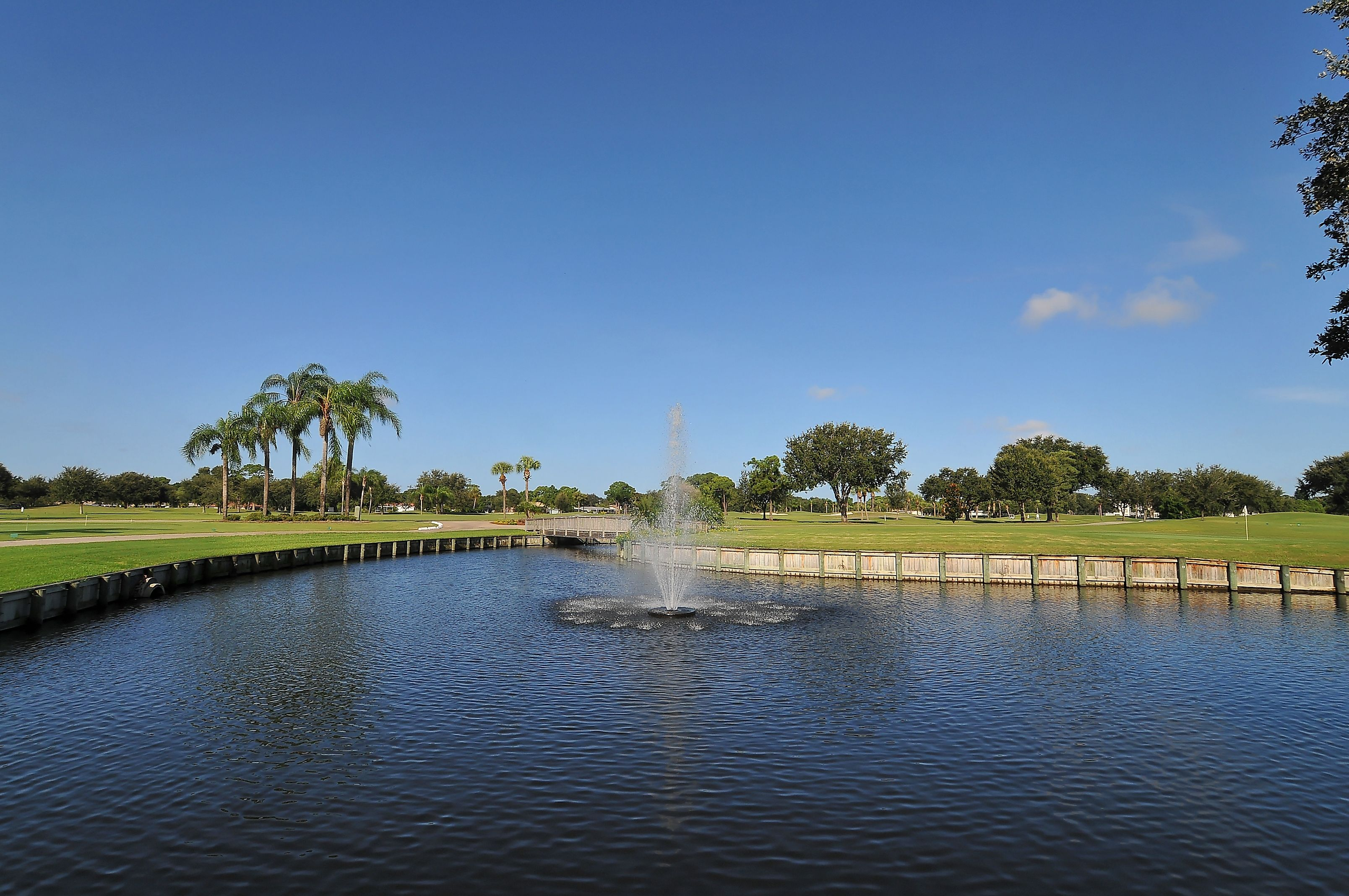 Golf course at Palm Aire Country Club, Sarasota, FL