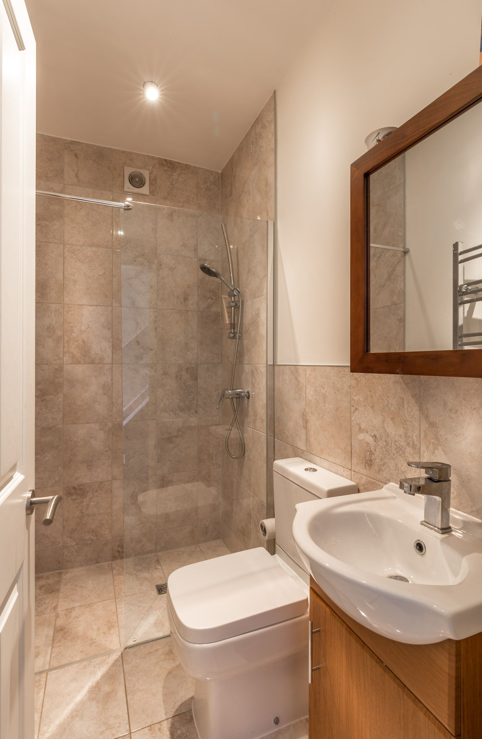 Small dodern downstairs shower room