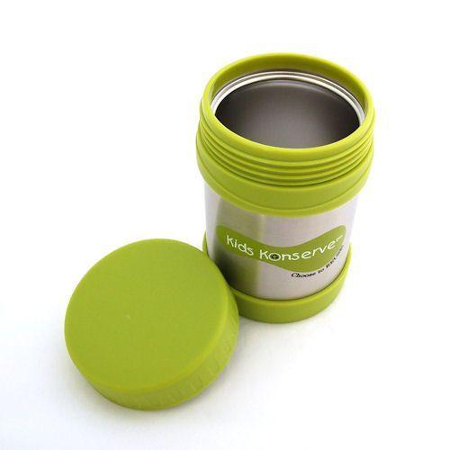 kids konserve thermos lunchcontainer lichtgroen kitchenhugs