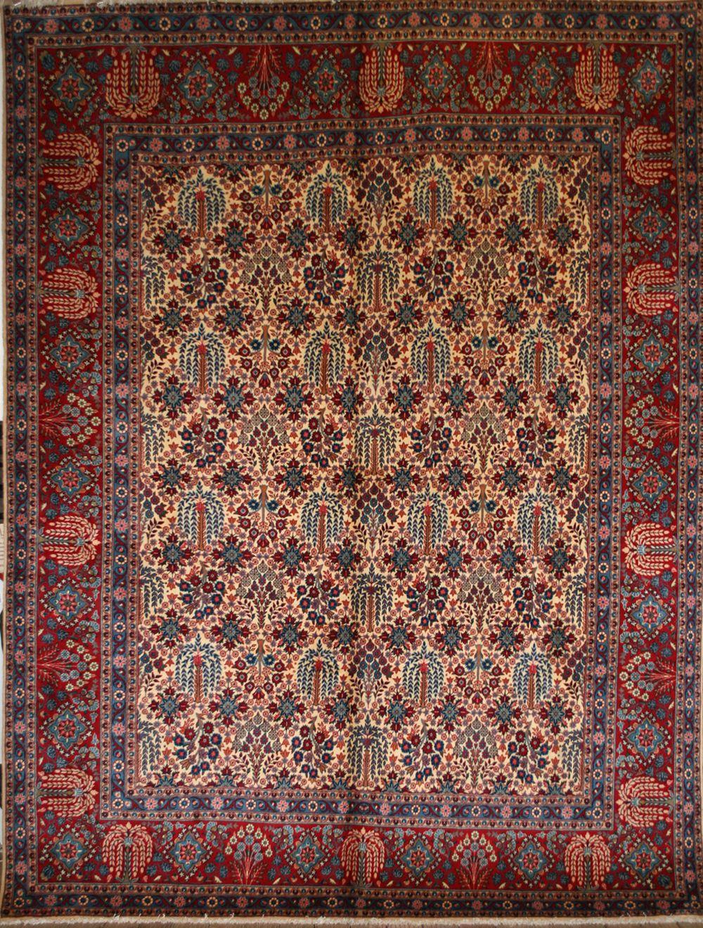 Rug Origin Iran Persian Name Yazd Length 3 95 M 12 Width 2 9 8