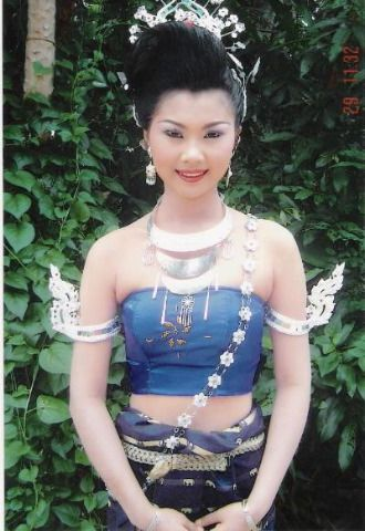 Isan Lao Lady in traditional costume  Asian Influence  Art and Fabric 1  Thailand, Asian
