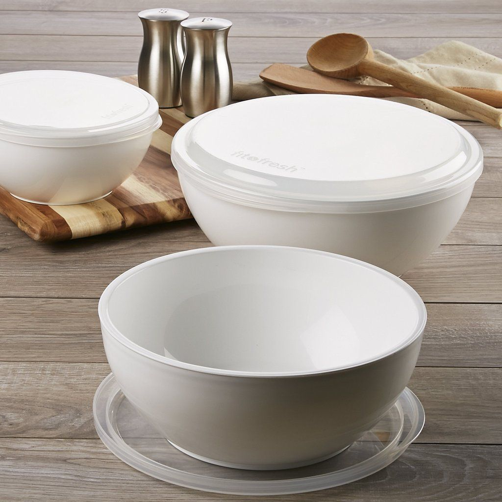Freezable Chilled Serving Bowls With Lids (Set Of 3)