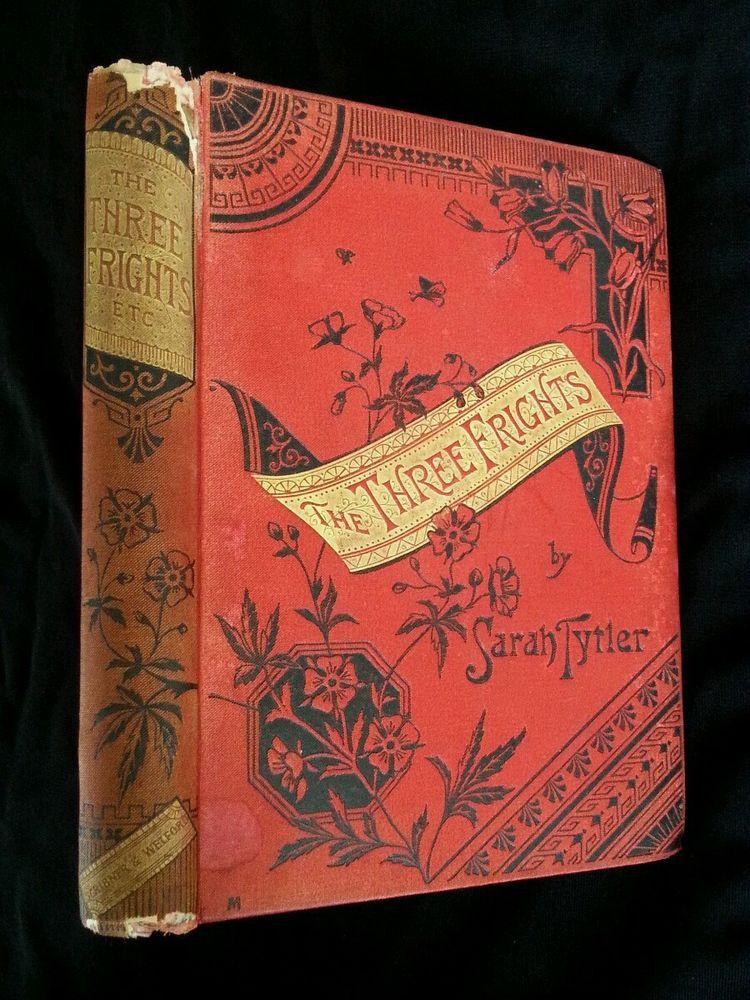 The Three Frights Genuine Antique Book Vintage Victorian Halloween - halloween decor images