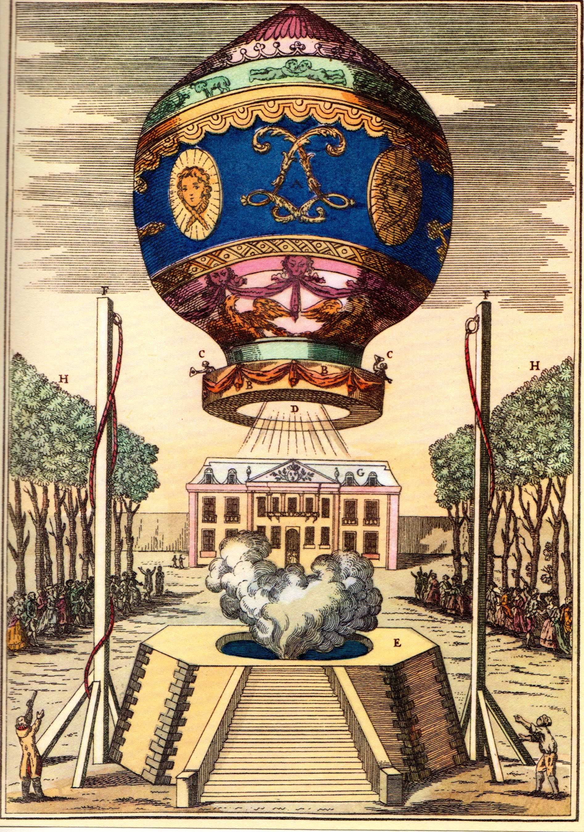 Montgolfier launch in 1783