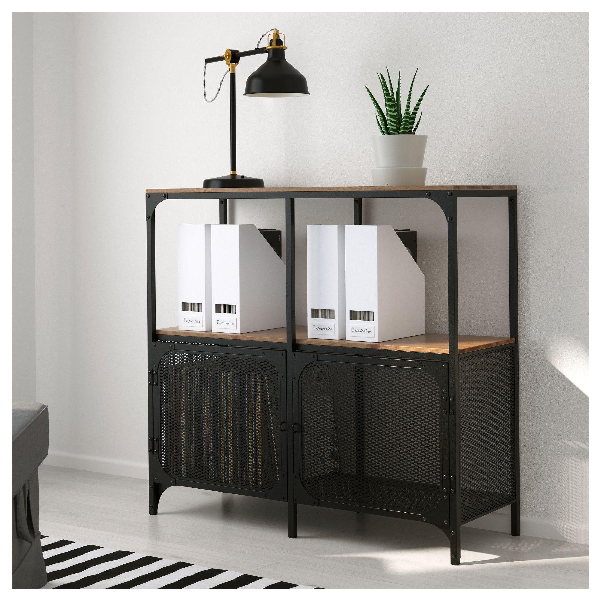 "IKEA FJ""LLBO Shelf unit black"