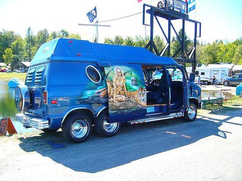 2007 Quebec Labor Day Vannin 051 Custom Vans Van Vintage Vans